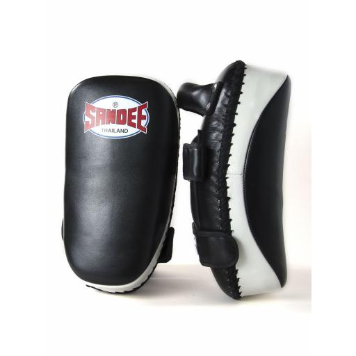 Sandee Curved Thai Pads - Black & White