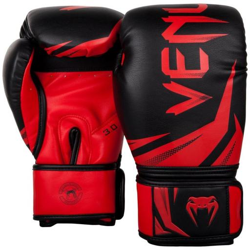Venum Challenger 3.0 Boxing Gloves - Black & Red