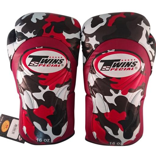 Twins Special Muay Thai Gloves - Red & Black Camo (BGVL6)