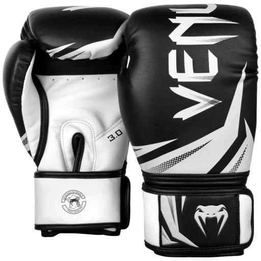 Venum Challenger 3.0 Boxing Gloves - Black & White