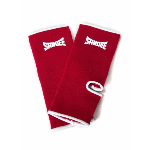 Sandee Ankle Guards/Supports - Red & White