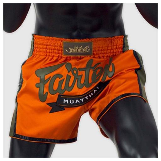 Fairtex Slim Cut Muay Thai Shorts - Orange Kevlar