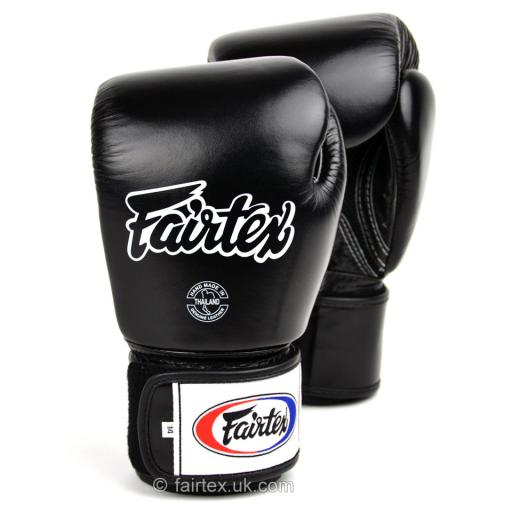 Fairtex Muay Thai Gloves - Black Breathable (BGV1-B)