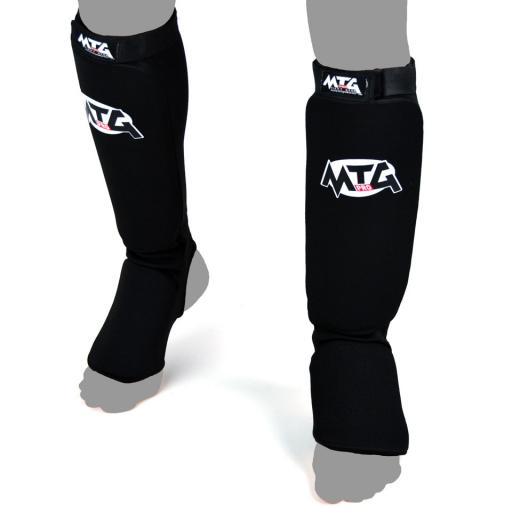 MTG Pro Elastic Shin Guards - Black