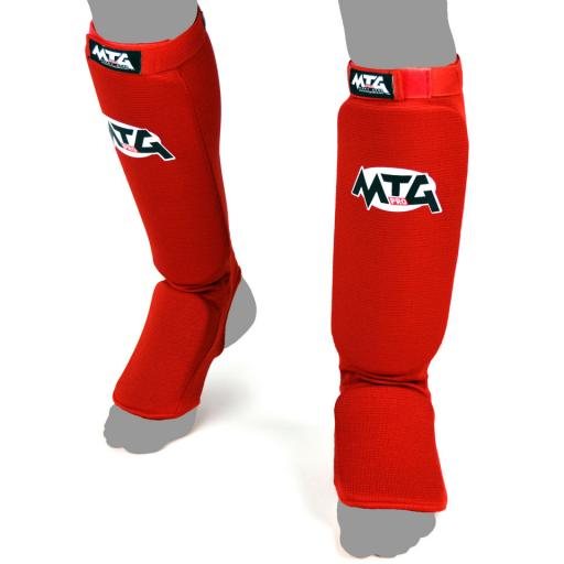 MTG Pro Elastic Shin Guards - Red
