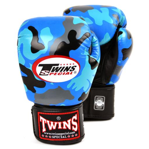 Twins Special Muay Thai Gloves - Blue Camo (FBGVL3 - AR)