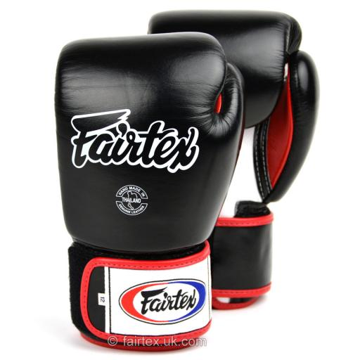 Fairtex Muay Thai Gloves - 3 Tone Black (BGV1)