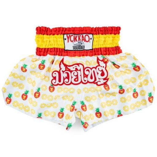 Yokkao Muay Thai Shorts - Pineapple White