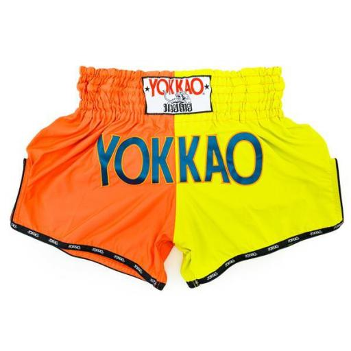 Yokkao Muay Thai Shorts - Double Impact Cherry/Lime