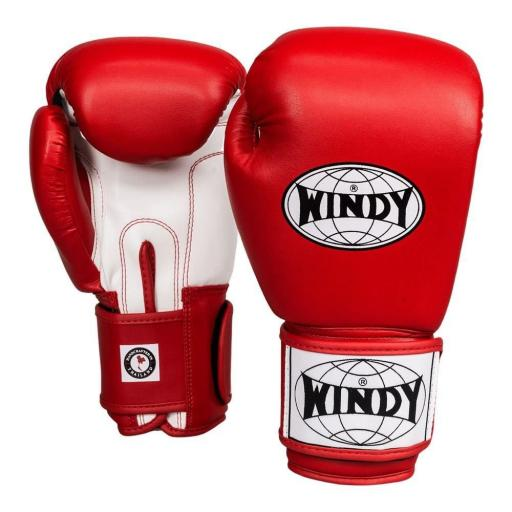 Windy Classic Boxing Gloves - Red/White