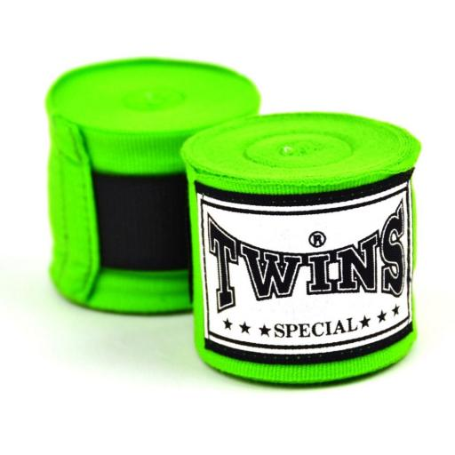 Twins Green Hand Wraps - 5m