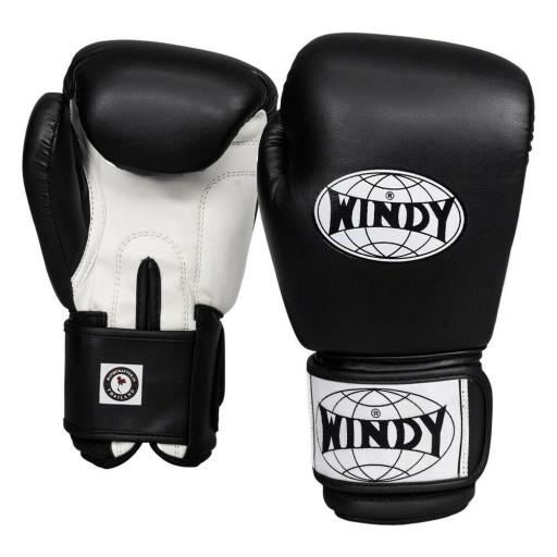 Windy Classic Boxing Gloves - Black/White