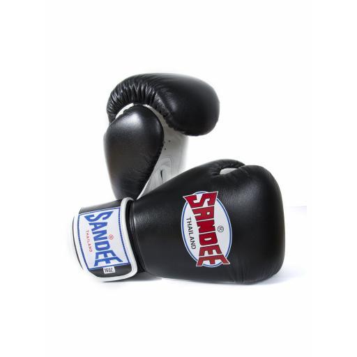 Sandee Two-Tone Gloves - Black/White