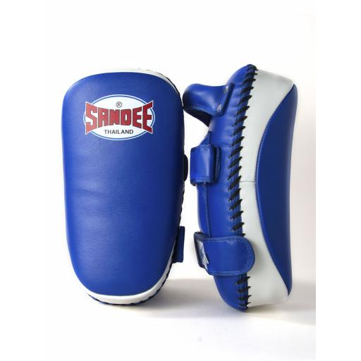 Sandee Curved Thai Pads - Blue & White