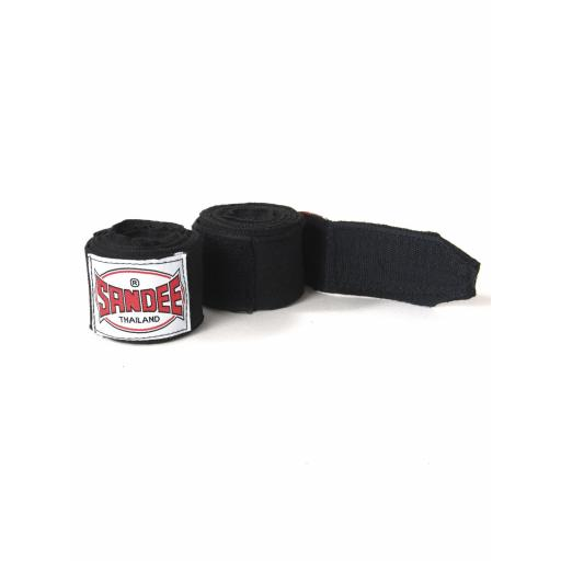 Sandee Black Hand Wraps - 5m