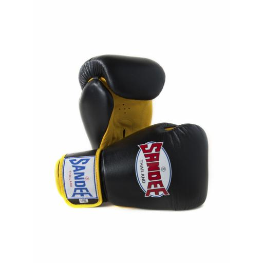 Sandee Two-Tone Gloves - Black/Yellow