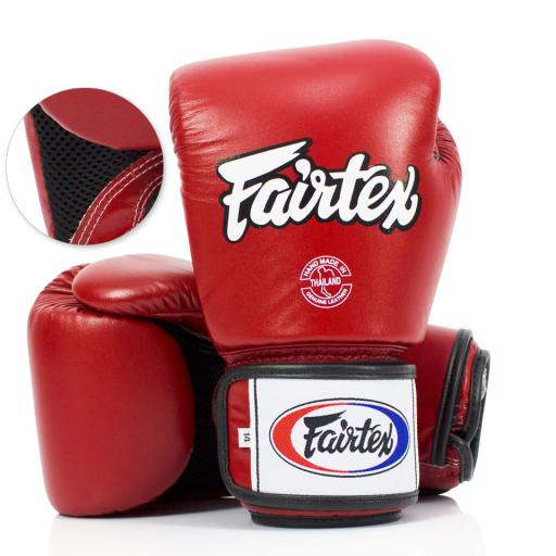 Fairtex Muay Thai Gloves - Red Breathable (BGV1-B)