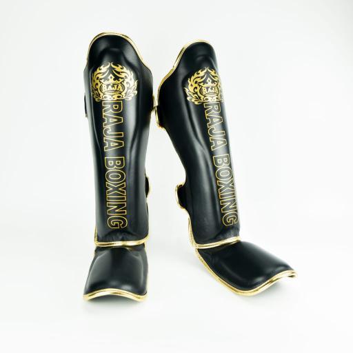 Raja Shin Pads - Black & Gold