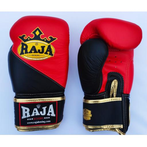 Raja Muay Thai Gloves - Standard Black & Red