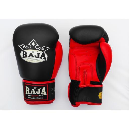 Raja Muay Thai Gloves - 2 Tone Black & Red